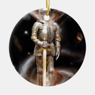 Space Soldier Round Ceramic Decoration