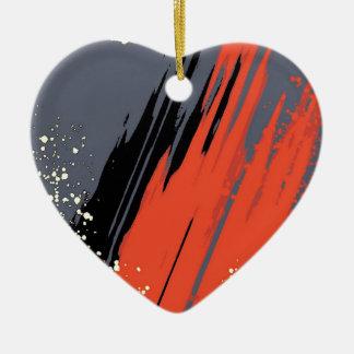 Space Splash Ceramic Heart Decoration