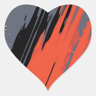 Space Splash Heart Sticker