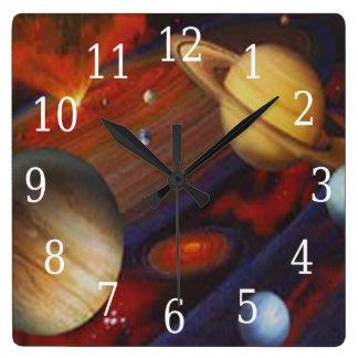 Space Square Clock