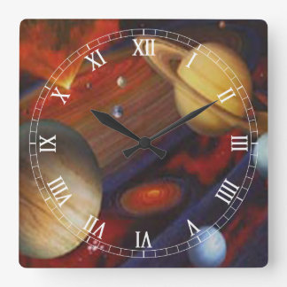Space Square Roman Numerals Clock