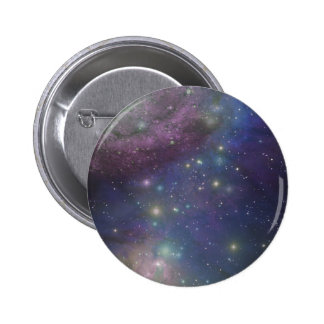 Space, stars, galaxies and nebulas 6 cm round badge