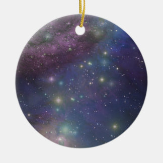 Space, stars, galaxies and nebulas christmas ornament
