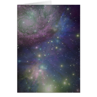 Space, stars, galaxies and nebulas greeting card