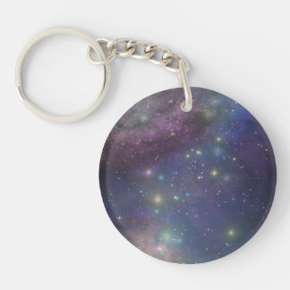 Space, stars, galaxies and nebulas key chain