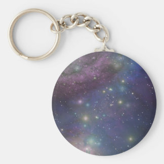 Space, stars, galaxies and nebulas key ring