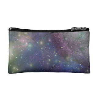 Space, stars, galaxies and nebulas makeup bags