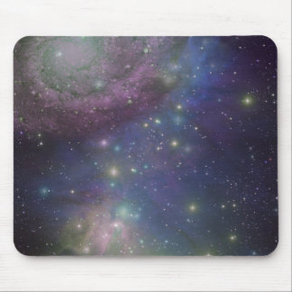 Space, stars, galaxies and nebulas mouse pad