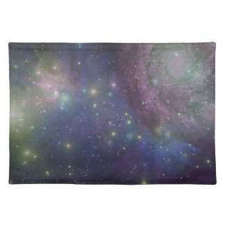 Space, stars, galaxies and nebulas placemat