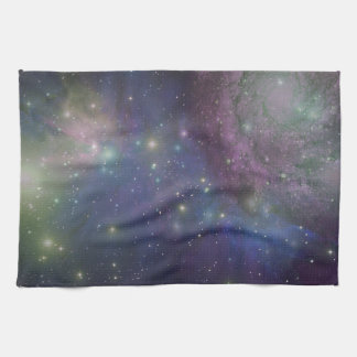 Space, stars, galaxies and nebulas tea towel