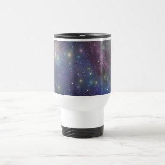 Space, stars, galaxies and nebulas travel mug