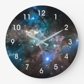 SPACE STARS LARGE CLOCK