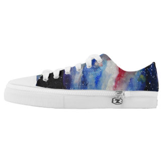 Space Stars Planet  Watercolor Art Shoes