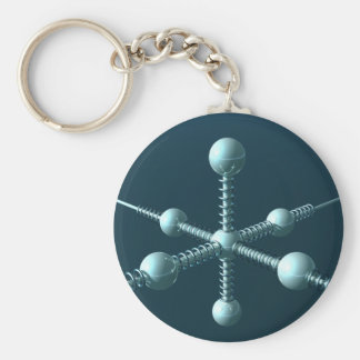 Space Station 2048 Basic Round Button Key Ring