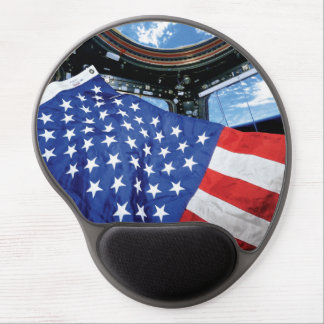 Space Station American Flag with Earth Gel Mouse Pad