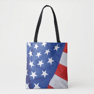 Space Station American Flag with Earth Tote Bag