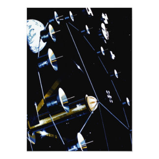 Space Station Colony - Live In Space 14 Cm X 19 Cm Invitation Card