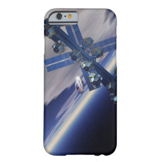 Space station. Computer artwork of a space 3 Barely There iPhone 6 Case