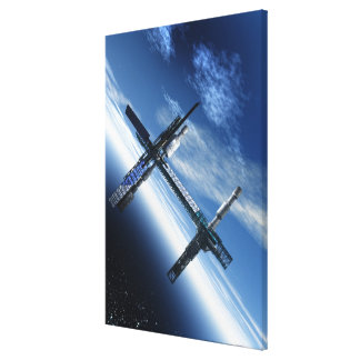 Space station. Computer artwork of a space Canvas Print