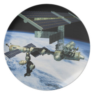 Space Station in Orbit 10 Plate