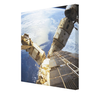 Space Station in Orbit 11 Stretched Canvas Print