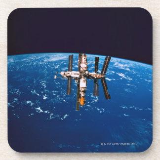 Space Station in Orbit 5 Drink Coaster