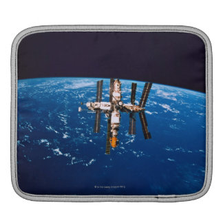 Space Station in Orbit 5 iPad Sleeve