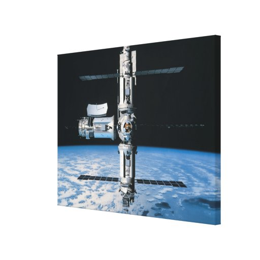 Space Station in Orbit 6 Canvas Prints