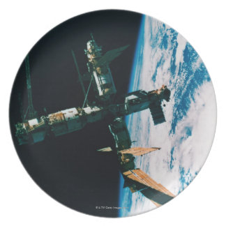 Space Station in Orbit 6 Plate