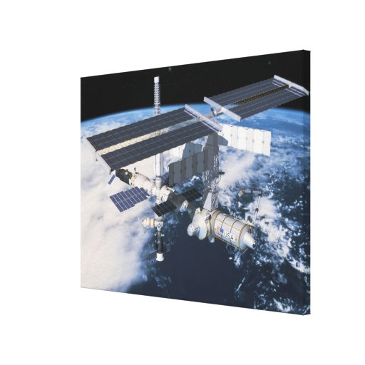 Space Station in Orbit 8 Stretched Canvas Prints