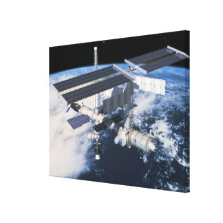 Space Station in Orbit 8 Canvas Print