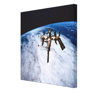 Space Station in Orbit 9 Stretched Canvas Print