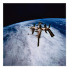 Space Station in Orbit 9 Poster