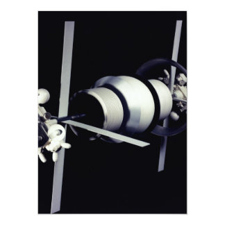 Space Station of the Future 14 Cm X 19 Cm Invitation Card