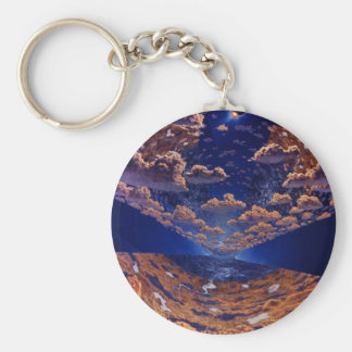 Space Station of the Future Key Chain
