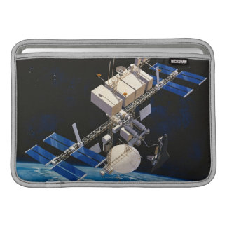 Space Station Orbiting Earth 10 MacBook Sleeve