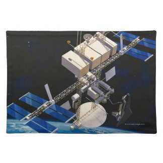 Space Station Orbiting Earth 10 Placemat
