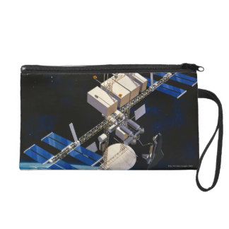 Space Station Orbiting Earth 10 Wristlet