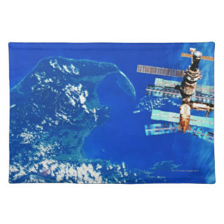 Space Station Orbiting Earth 2 Placemat
