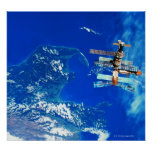 Space Station Orbiting Earth 2 Print