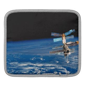 Space Station Orbiting Earth 3 iPad Sleeve
