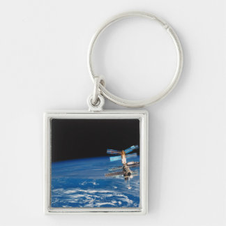 Space Station Orbiting Earth 3 Key Ring