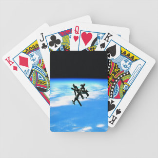 Space Station Orbiting Earth 4 Bicycle Playing Cards
