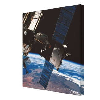Space Station Orbiting Earth 5 Canvas Print