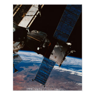 Space Station Orbiting Earth 6 Poster
