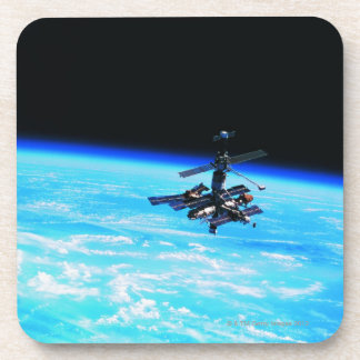 Space Station Orbiting Earth 7 Beverage Coasters