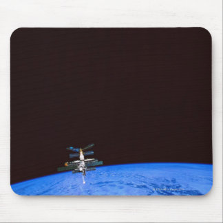 Space Station Orbiting Earth 8 Mouse Pad
