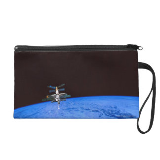 Space Station Orbiting Earth 8 Wristlet