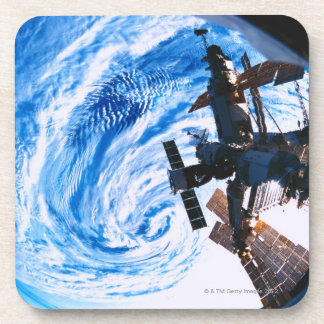 Space Station Orbiting Earth 9 Drink Coasters