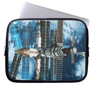 Space Station Orbiting Earth Laptop Sleeve